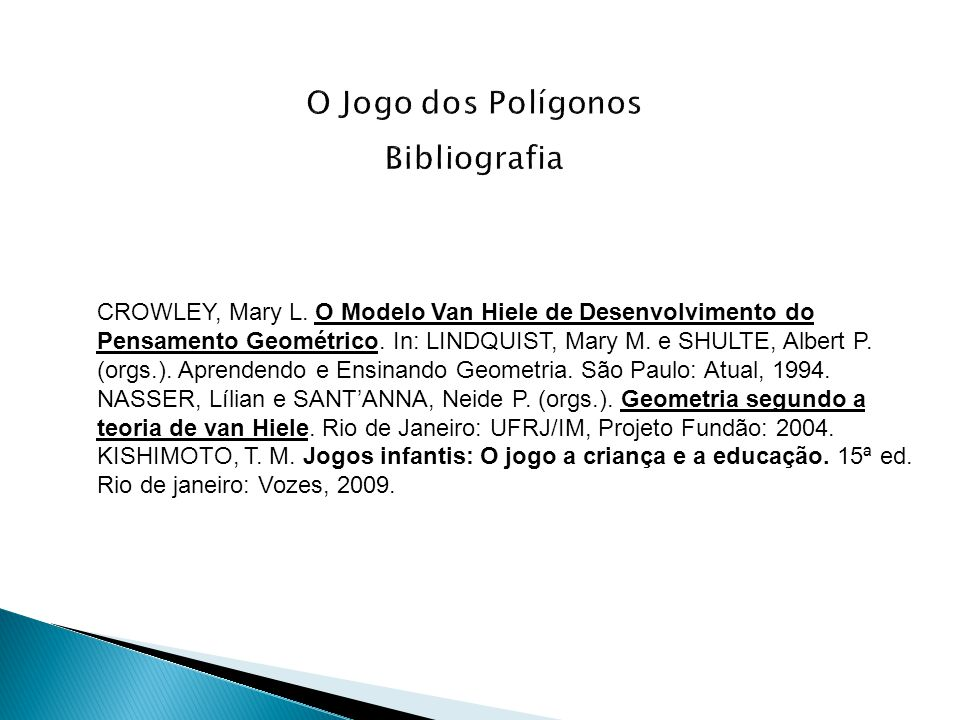 O Jogo dos Polígonos Bibliografia