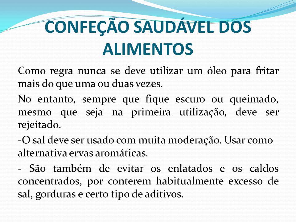 CONFEÇÃO SAUDÁVEL DOS ALIMENTOS