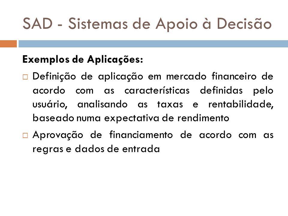 SAD - Sistemas de Apoio à Decisão