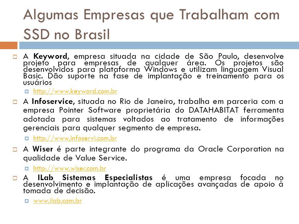 Algumas Empresas que Trabalham com SSD no Brasil