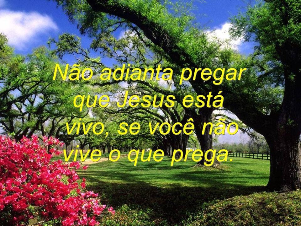 Não adianta pregar que Jesus está vivo, se você não vive o que prega.