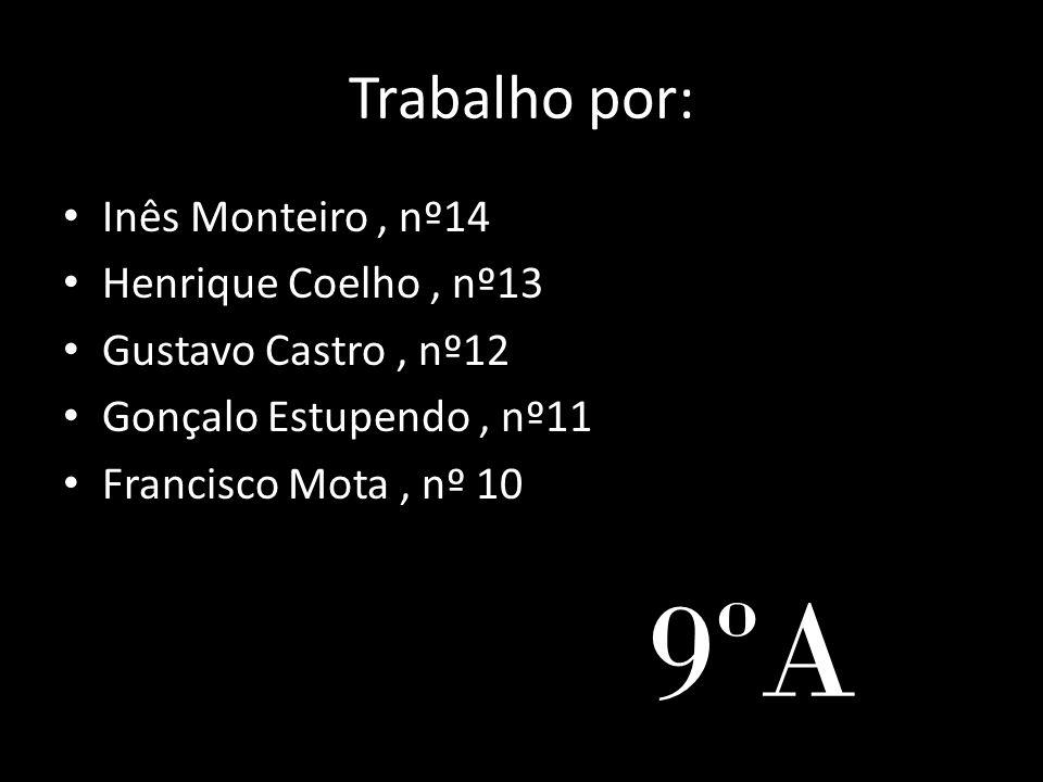 9ºA Trabalho por: Inês Monteiro , nº14 Henrique Coelho , nº13