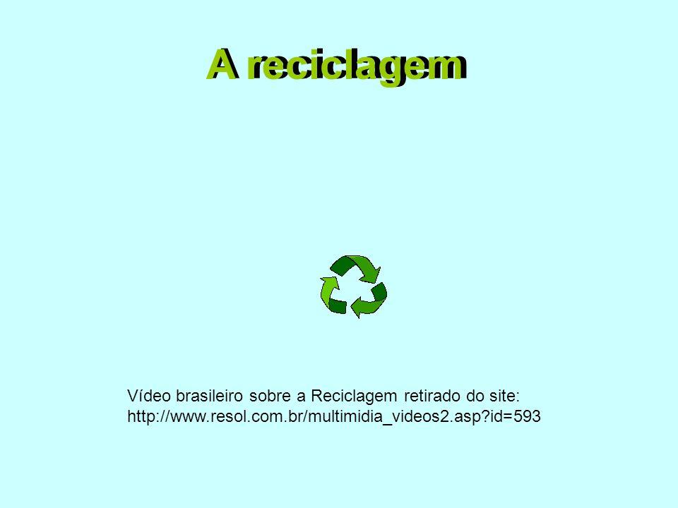 A reciclagem A reciclagem