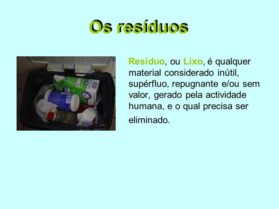 Os resíduos Os resíduos