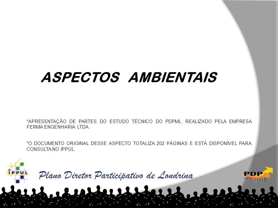 ASPECTOS AMBIENTAIS Plano Diretor Participativo de Londrina