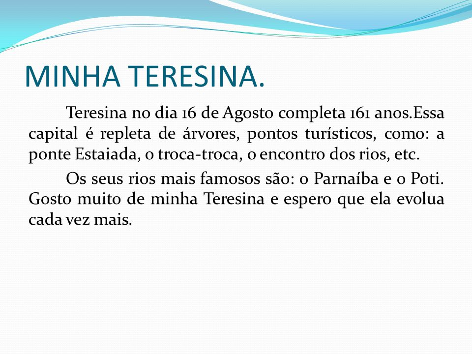MINHA TERESINA.