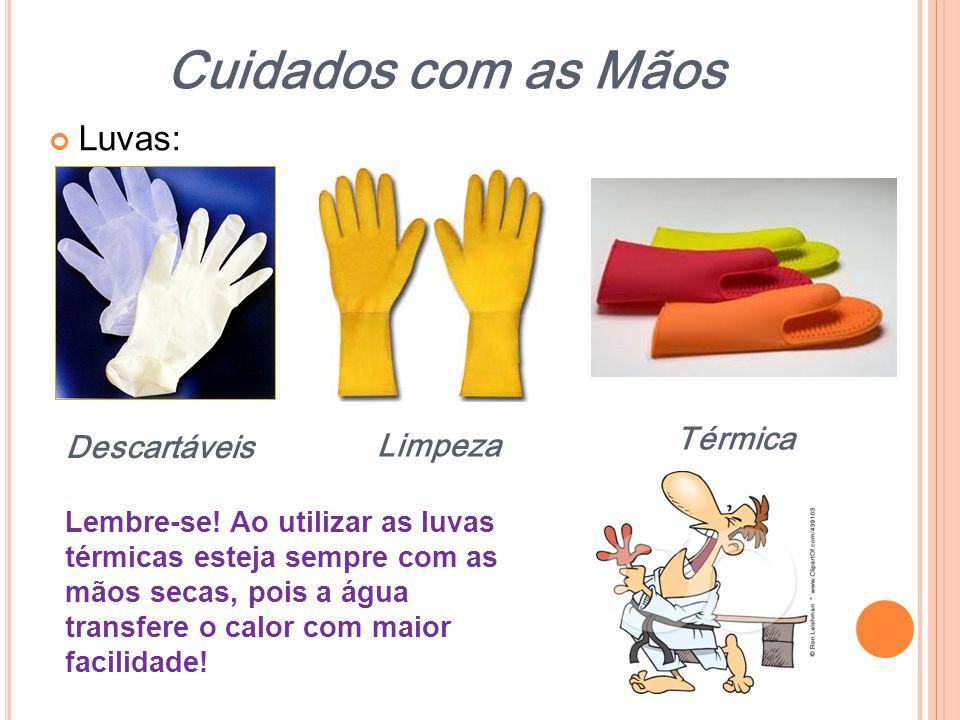 Cuidados com as Mãos Luvas: Térmica Descartáveis Limpeza