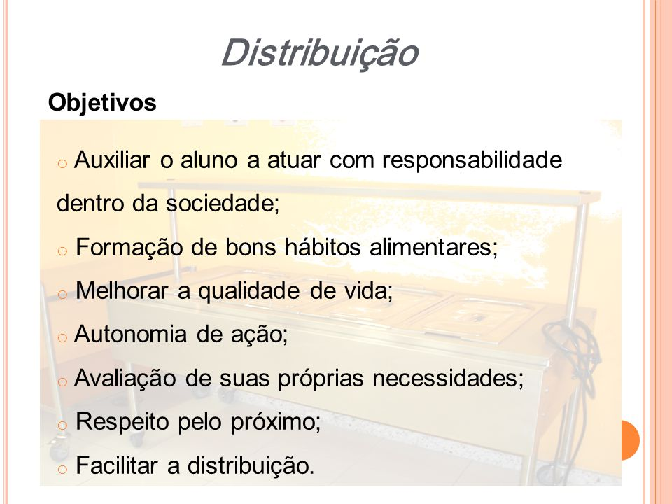 Distribuição Objetivos