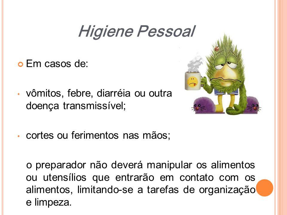 Higiene Pessoal Em casos de: