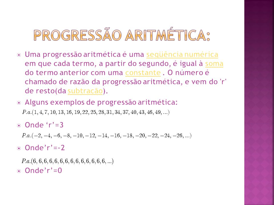 Progressão Aritmética: