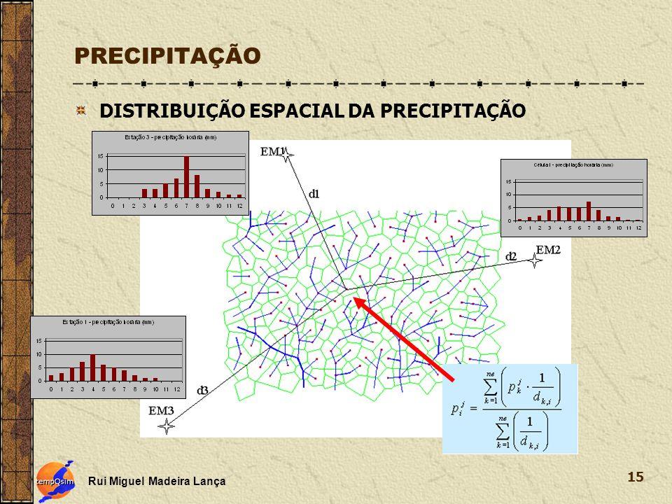 PRECIPITAÇÃO DISTRIBUIÇÃO ESPACIAL DA PRECIPITAÇÃO