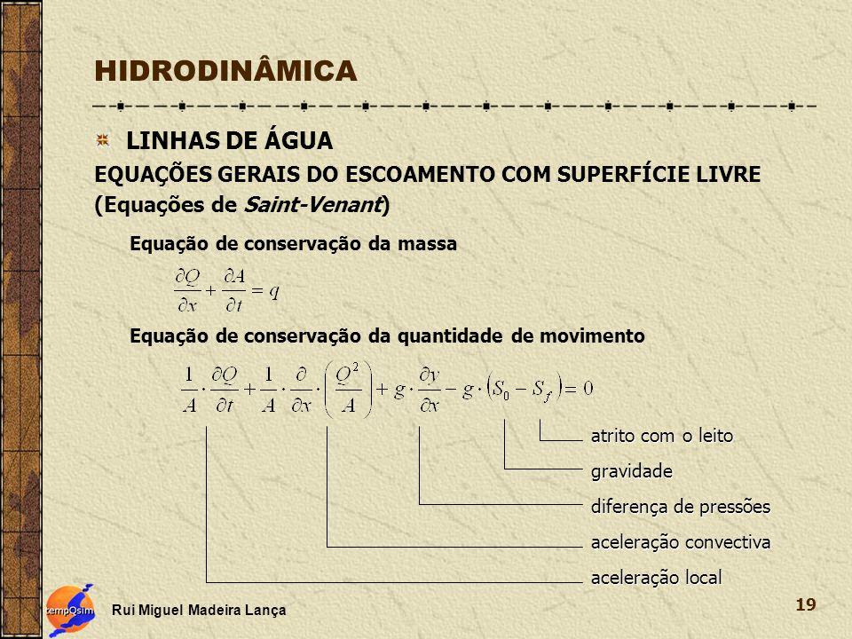 HIDRODINÂMICA LINHAS DE ÁGUA