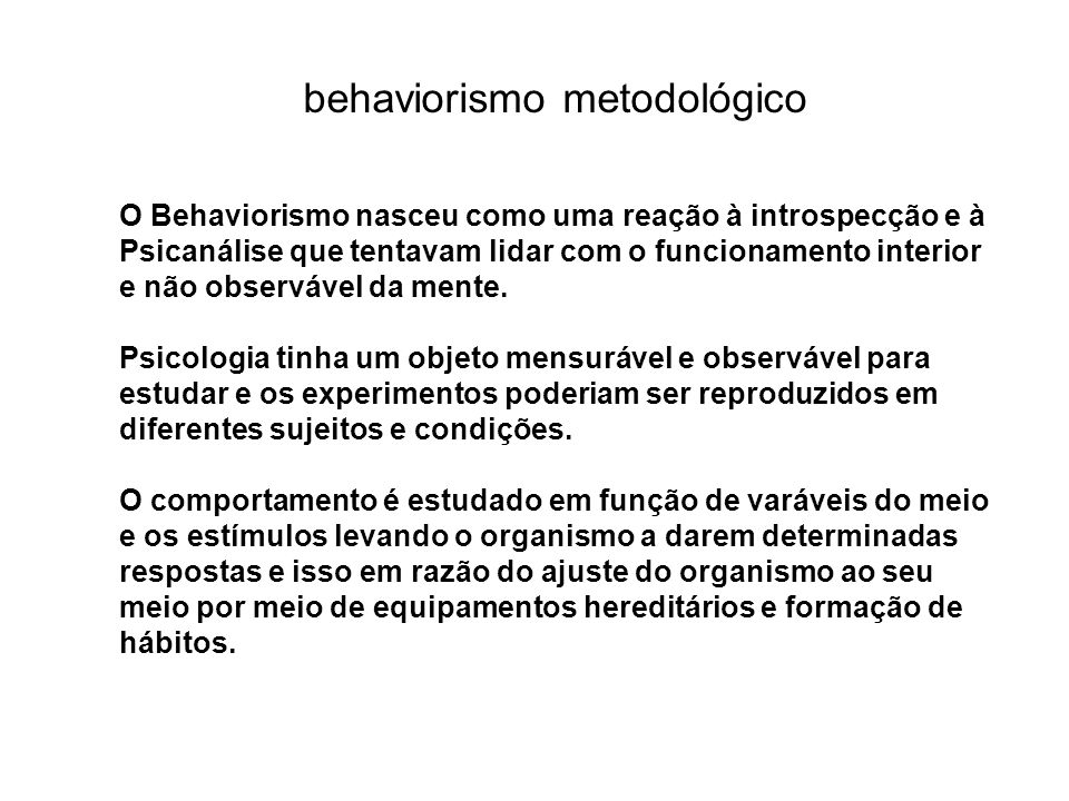 behaviorismo metodológico