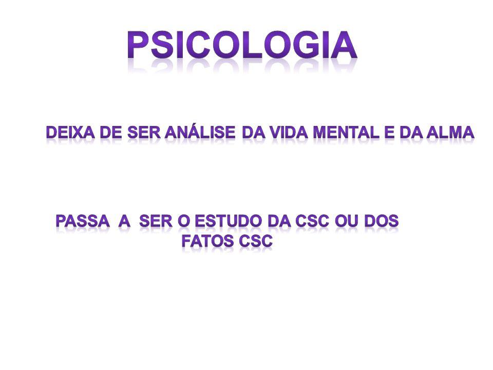 Psicologia Deixa de ser análise da vida mental e da alma