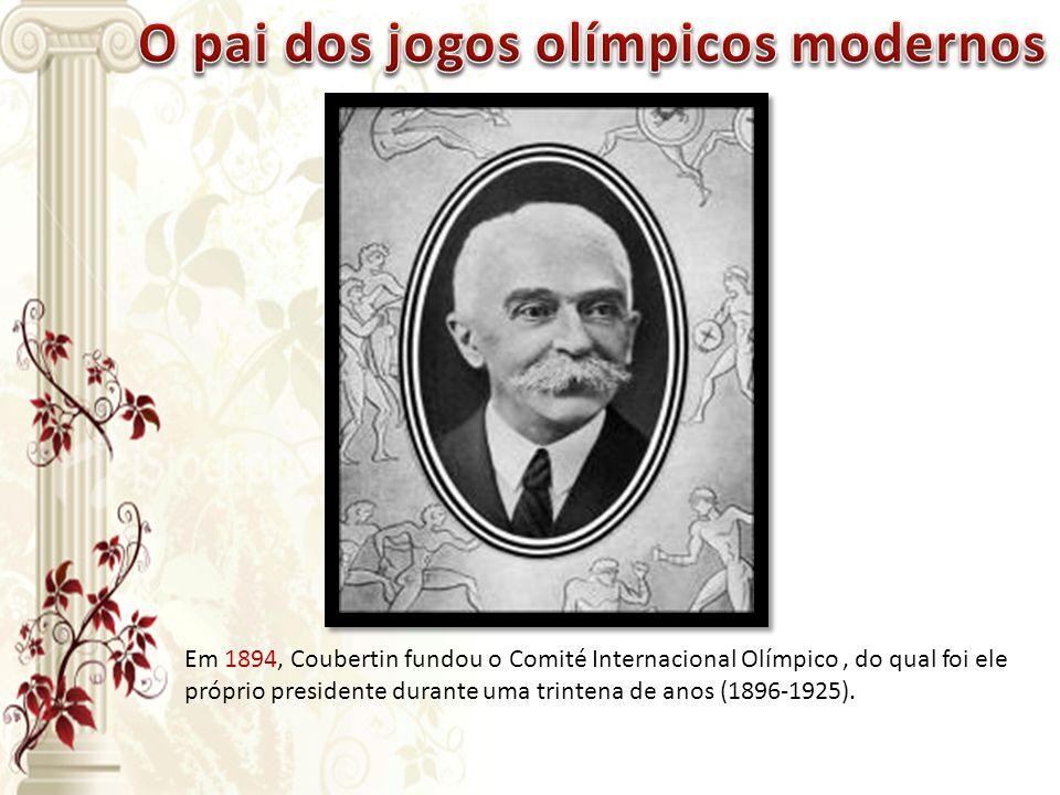 O pai dos jogos olímpicos modernos