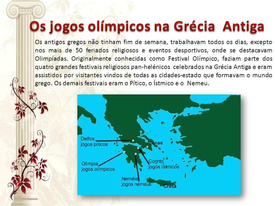 Os jogos olímpicos na Grécia Antiga