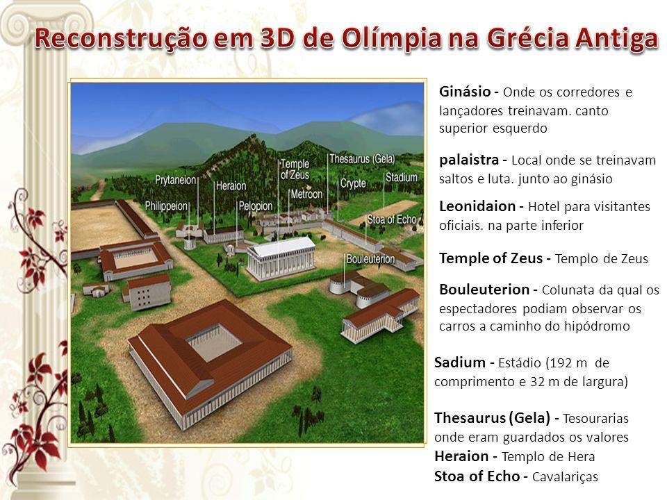 Reconstrução em 3D de Olímpia na Grécia Antiga