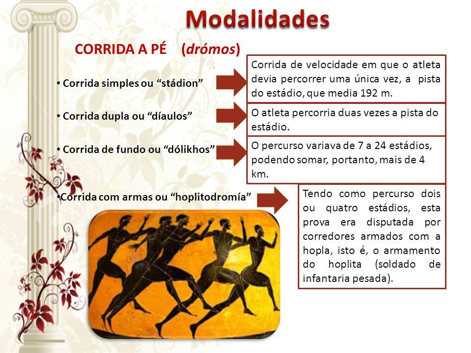 Modalidades CORRIDA A PÉ (drómos)