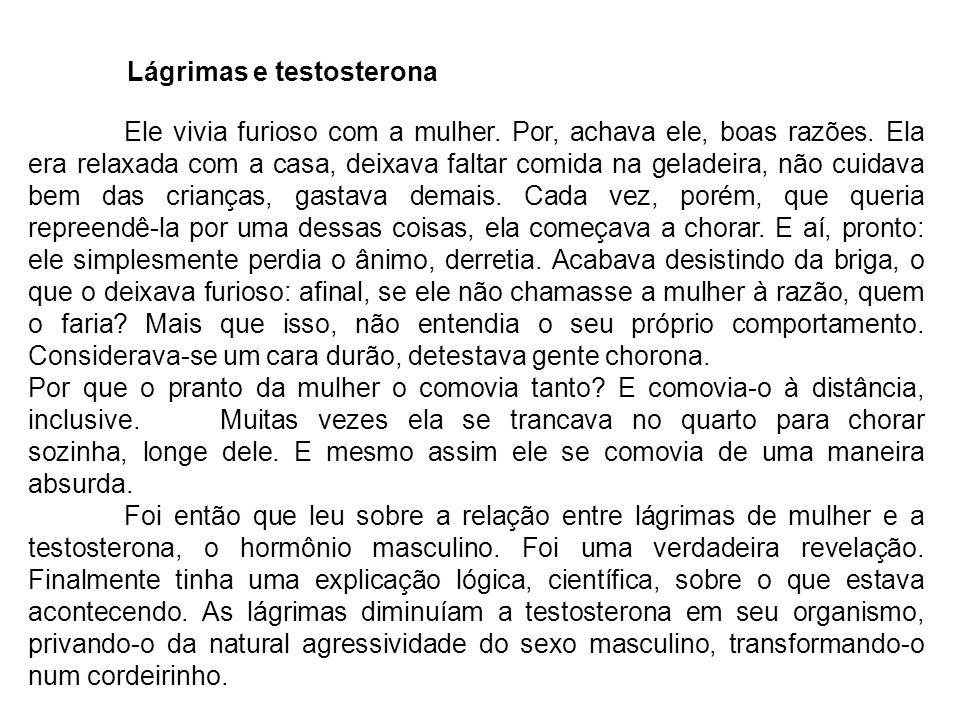 Lágrimas e testosterona