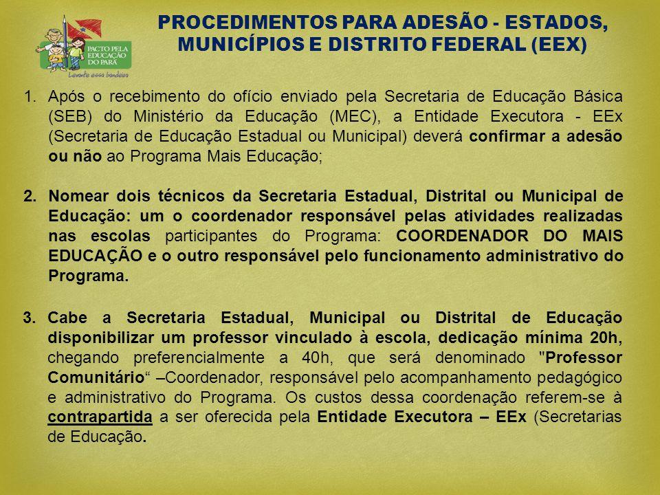 PROCEDIMENTOS PARA ADESÃO - ESTADOS, MUNICÍPIOS E DISTRITO FEDERAL (EEX)