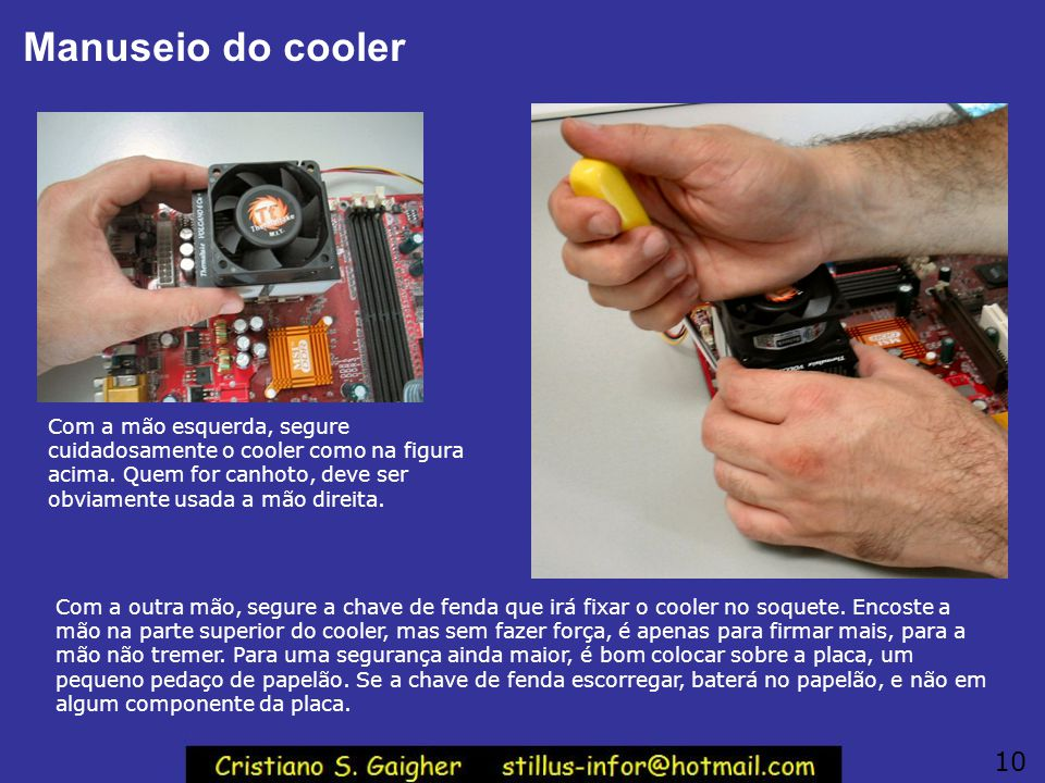 Manuseio do cooler