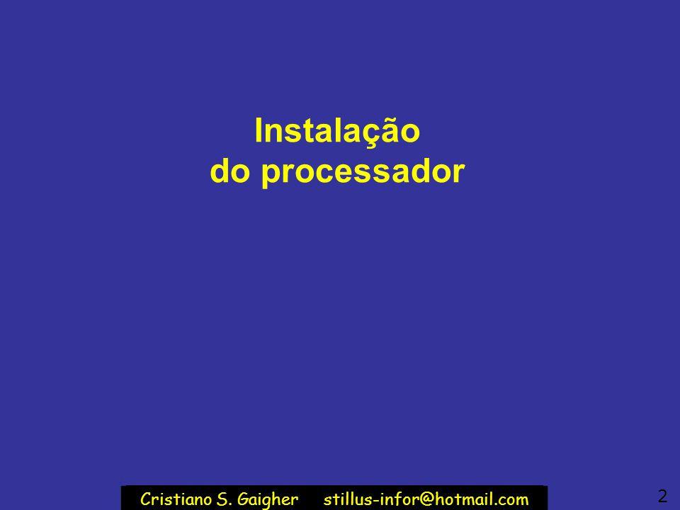 Instalação do processador