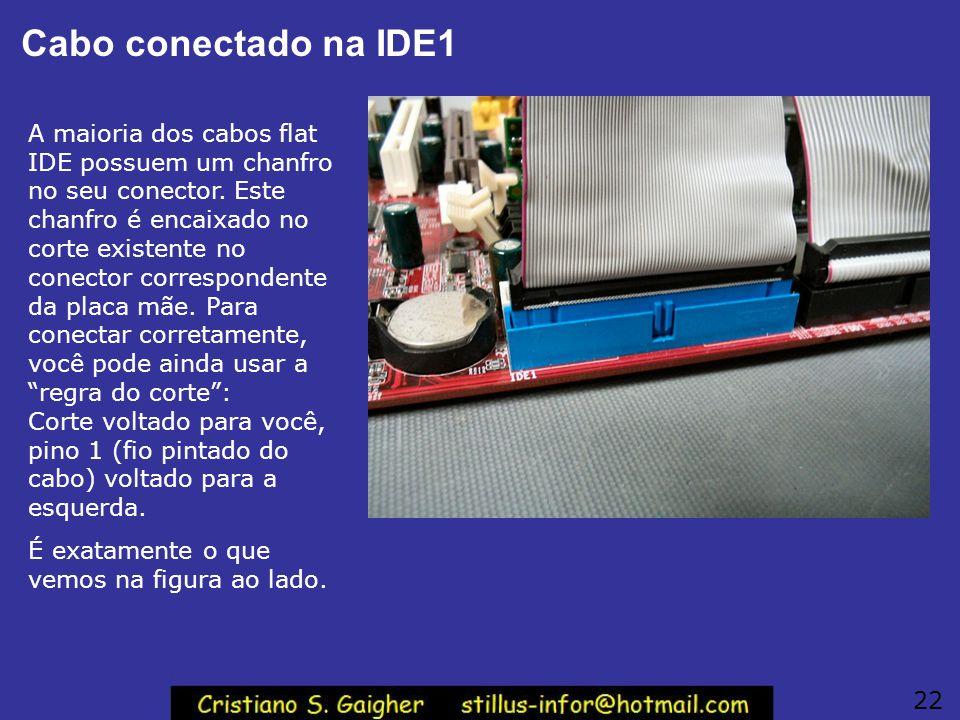 Cabo conectado na IDE1