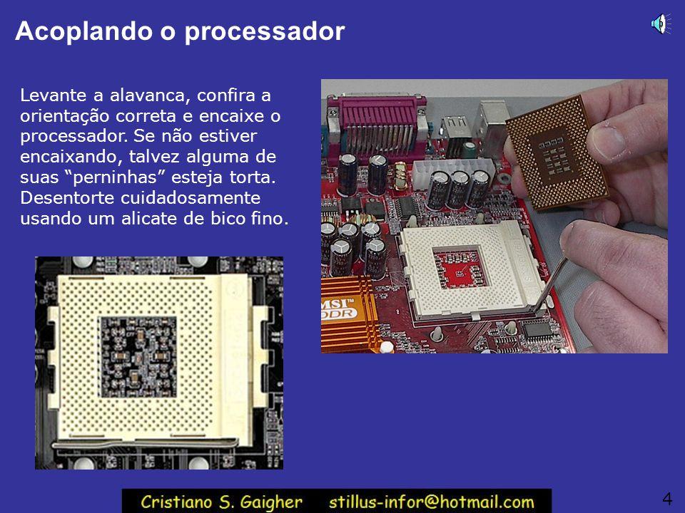 Acoplando o processador