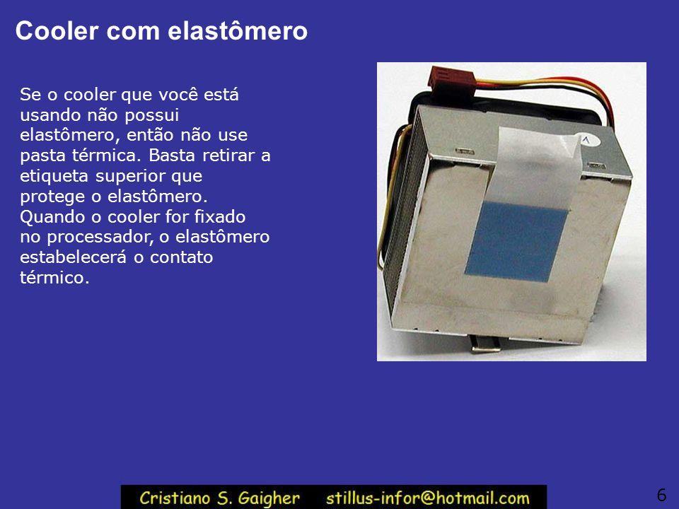 Cooler com elastômero