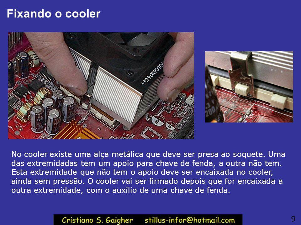 Fixando o cooler