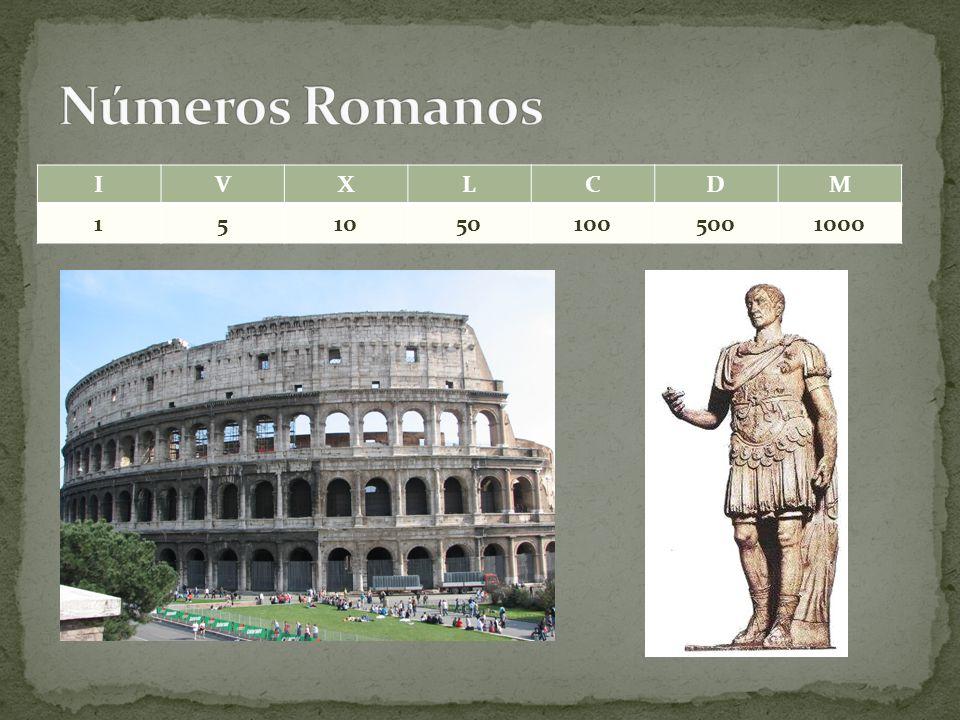 Números Romanos I V X L C D M 1 5 10 50 100 500 1000