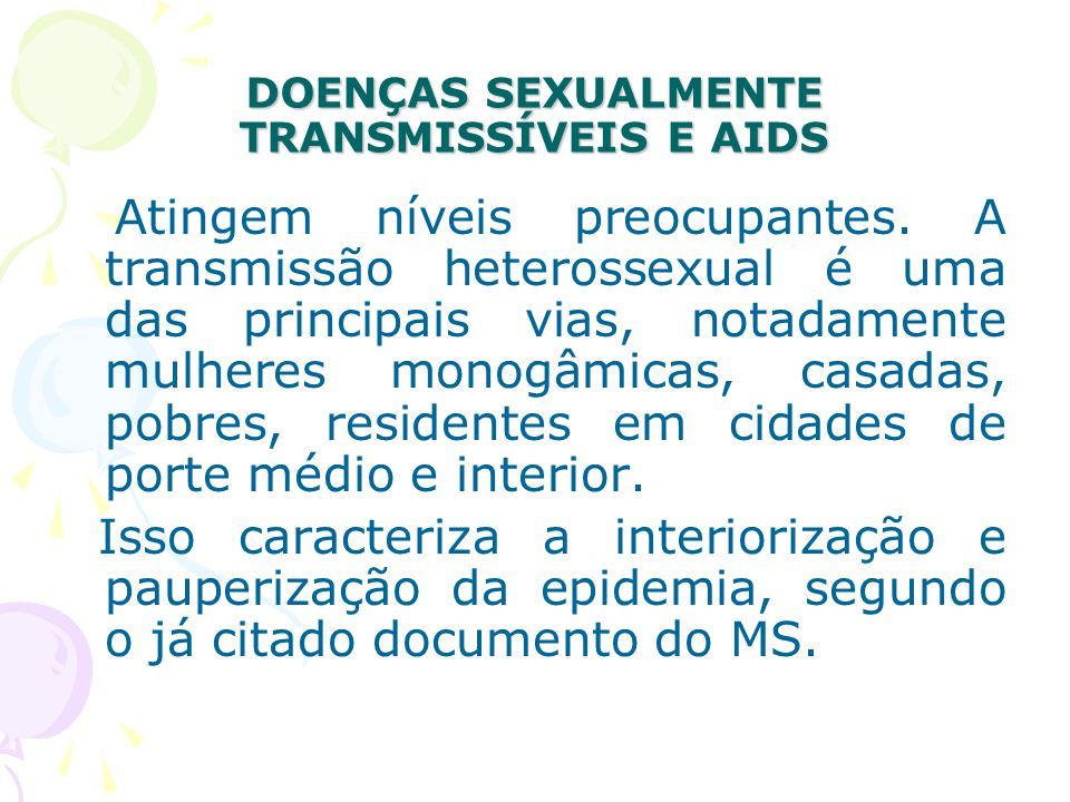 DOENÇAS SEXUALMENTE TRANSMISSÍVEIS E AIDS