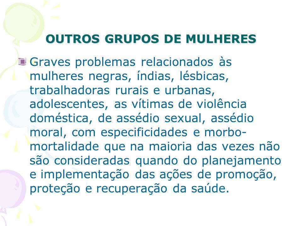 OUTROS GRUPOS DE MULHERES