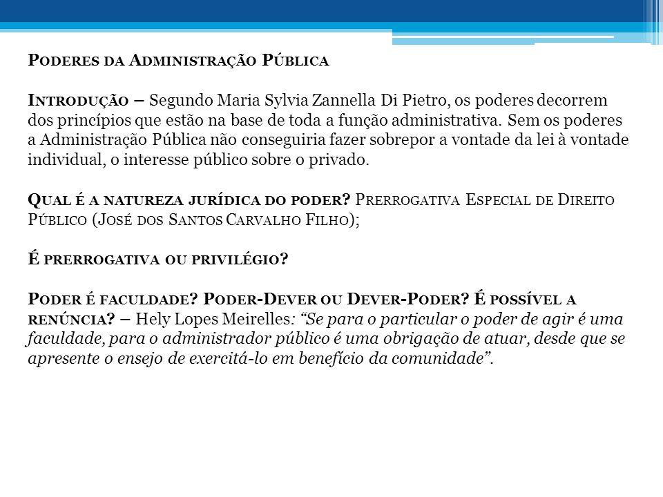 Poderes da Administração Pública