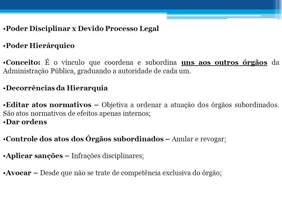 Poder Disciplinar x Devido Processo Legal