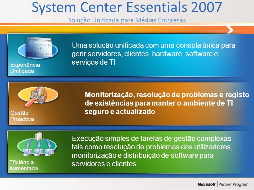 System Center Essentials 2007 Solução Unificada para Médias Empresas