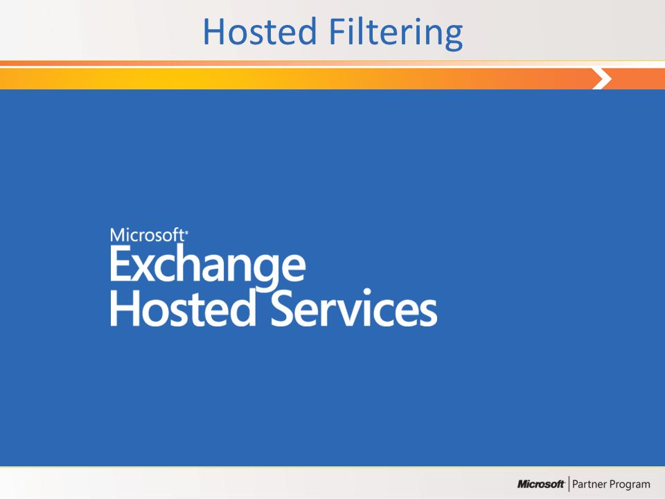 Hosted Filtering