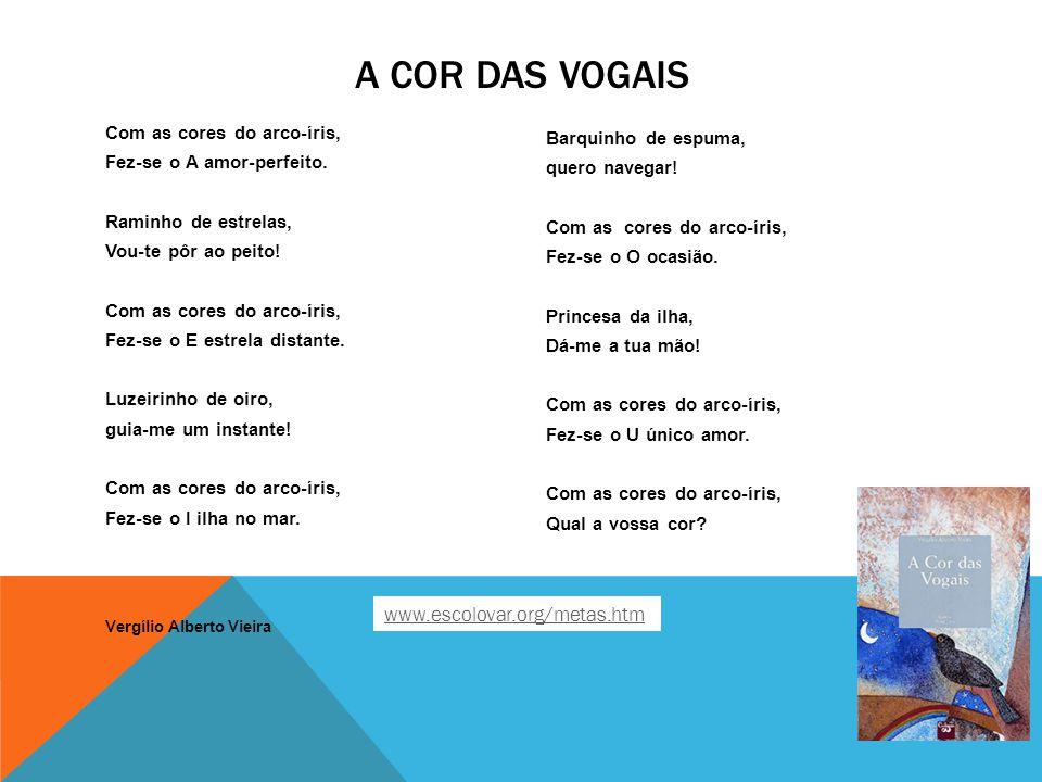 A Cor das Vogais www.escolovar.org/metas.htm