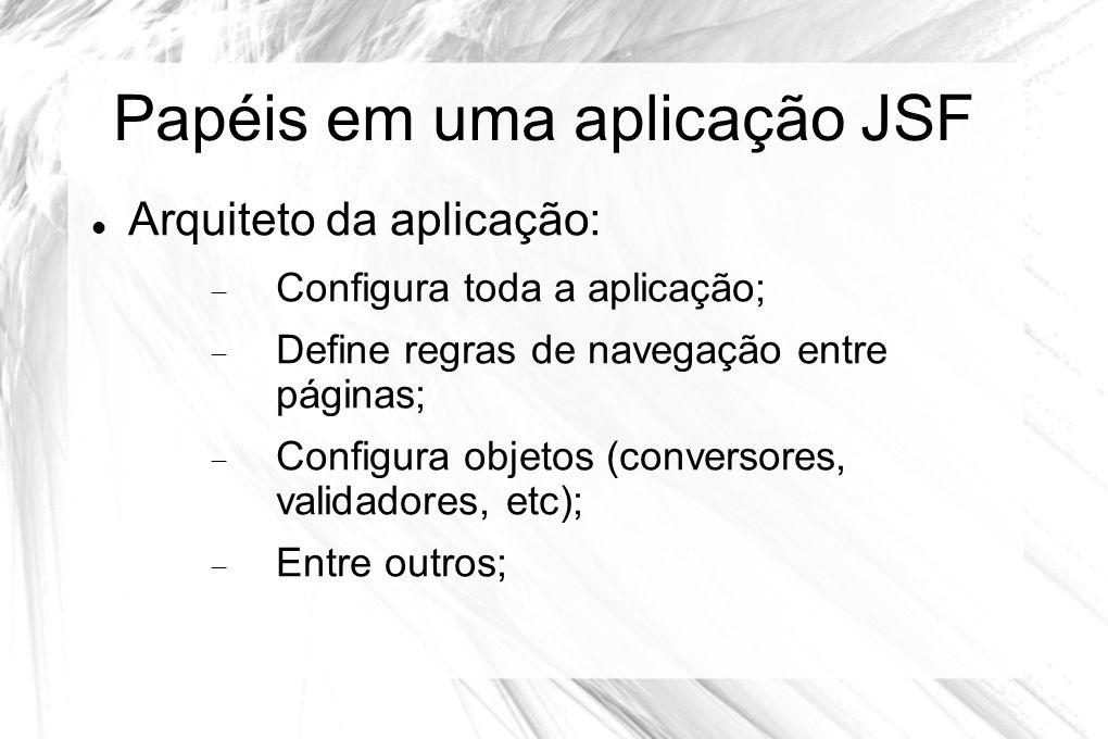 Papéis em uma aplicação JSF
