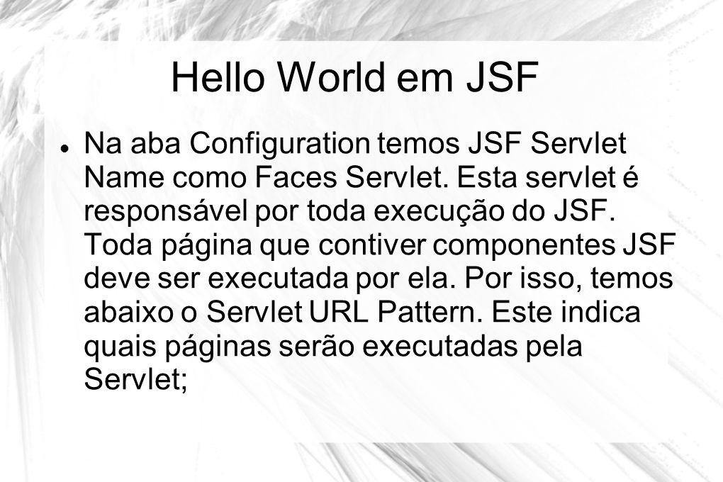 Hello World em JSF