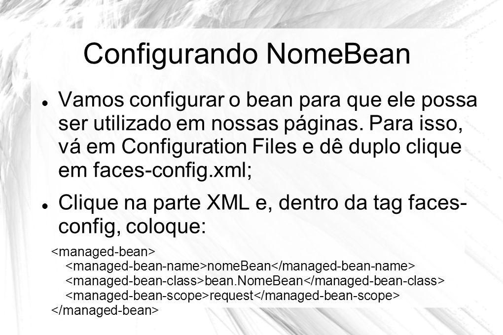 Configurando NomeBean