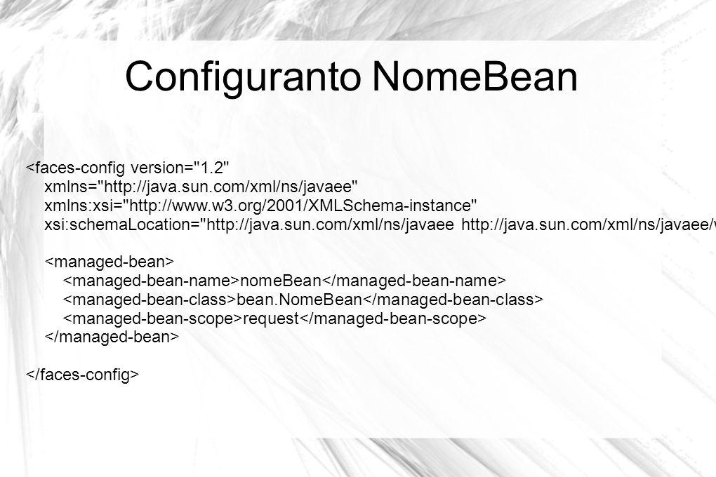 Configuranto NomeBean