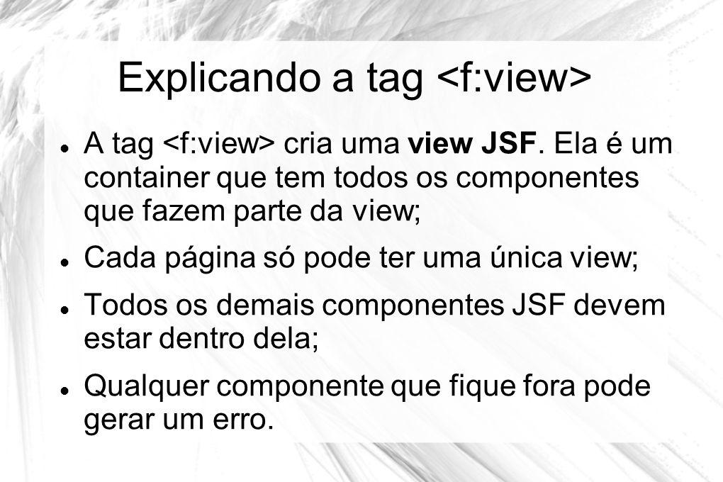 Explicando a tag <f:view>