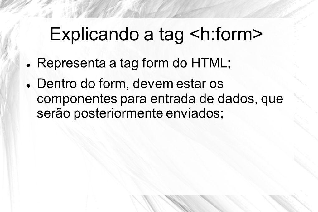 Explicando a tag <h:form>