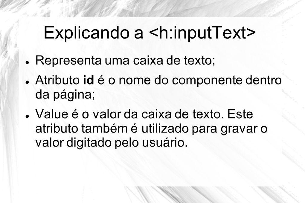 Explicando a <h:inputText>