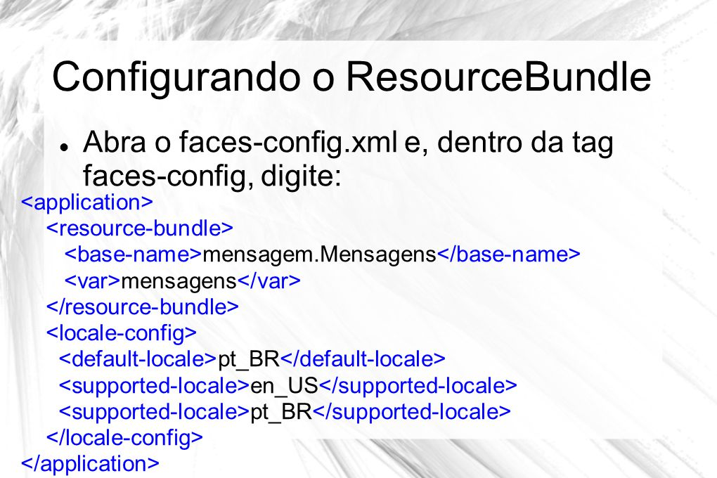 Configurando o ResourceBundle