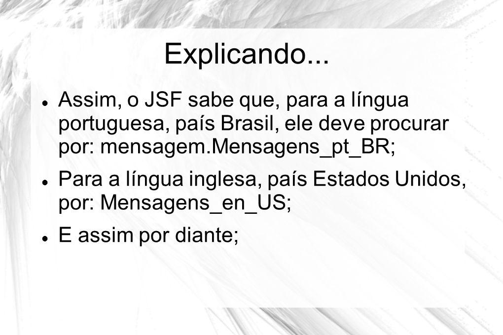 Explicando... Assim, o JSF sabe que, para a língua portuguesa, país Brasil, ele deve procurar por: mensagem.Mensagens_pt_BR;