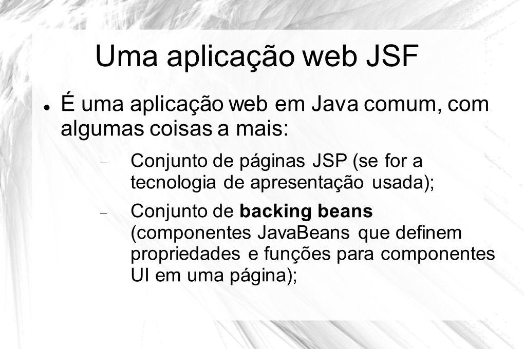 Uma aplicação web JSF É uma aplicação web em Java comum, com algumas coisas a mais: