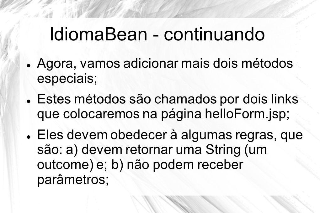 IdiomaBean - continuando