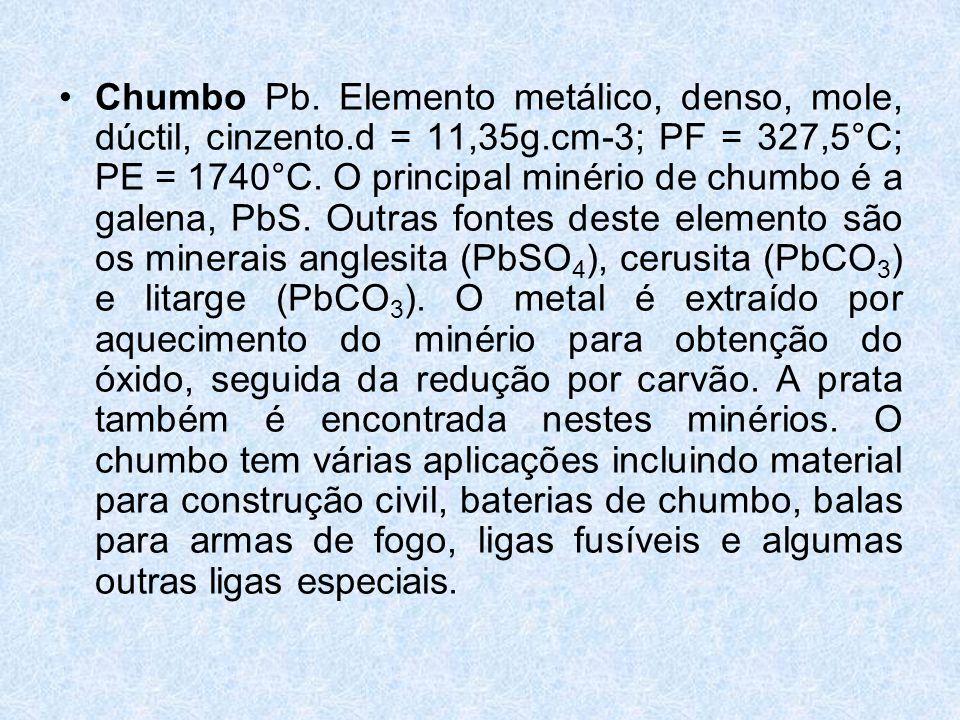 Chumbo Pb.